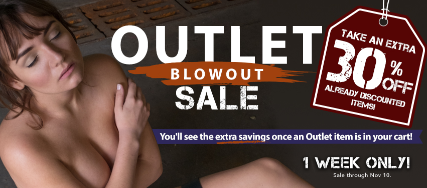 Outlet Blowout Sale - extra 30% off all outlet store items until Nov 10. Discount applied on the shopping cart page.