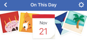 facebook on this day feature