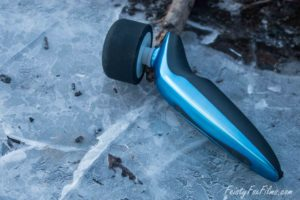 the Tantus Rumble lies diagonally over a sheet of ice