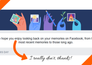 screenshot of the facebook memory blurb