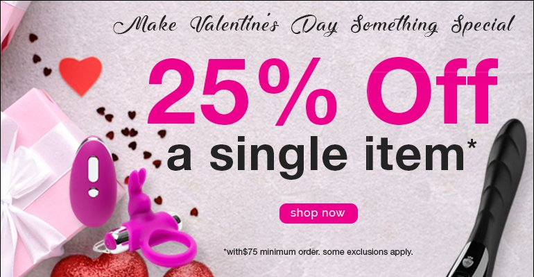25% off a single item with $75 minimum order