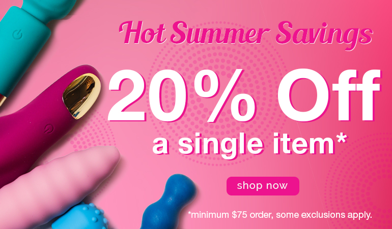 Hot summer savings 20% off a single item minimum $75 order, some exclusions apply