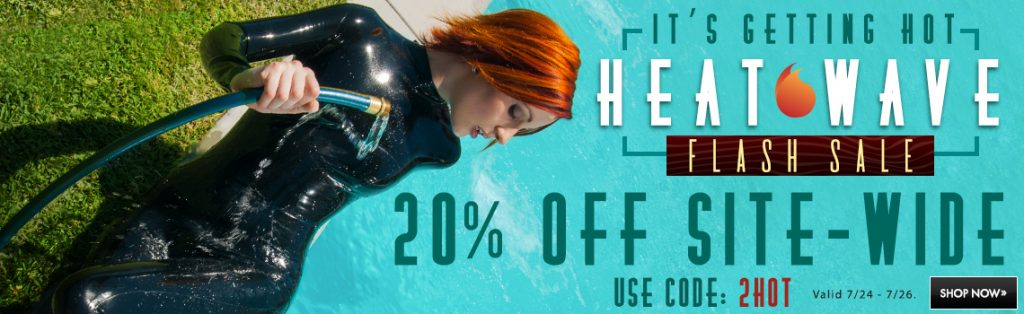 It's getting hot heat wave flash sale 20% off site-wide use code 2HOT
